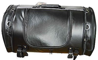 MOTORCYCLE WATERPROOF LARGE PVC SISSY T BAR BAG TRAVEL LUGGAGE GREAT QUALITY