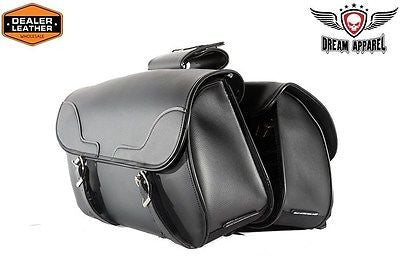MOTORCYCLE 2PC WATERPROOF LARGE PLAIN ZIPOFF PVC THROWOVER SADDLEBAG NEW