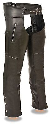 MEN'S MOTORYCLE ZIPPERED THGH POCKETS CHAP VERY SOFT LEATHER CHEAP PRICE