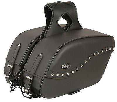 MOTORCYCLE 2PC CRUISER LARGE ZIPOFF STUD THROWOVER SADDLEBAG