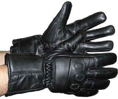 MOTORCYCLE GUANTLET RIDING INSULATED GLOVES W/ PADDED KNUCKLES VERY WARM