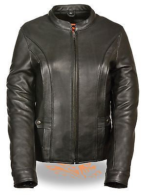 WOMEN'S MOTORCYCLE SCOTTER VENTED W/BACK STRETCH JACKET W/2 GUN POCKETS
