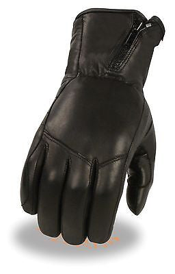 MEN'S VERY SOFT LONG WRISTED GUANTLET SOFT GLOVE W/SIDE SET ZIPPER CUFF