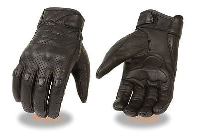 MEN'S BUTTER SOFT PERFORATED W/GEL PALM & HARD KNUCKLE PROTECTION VERY SOFT