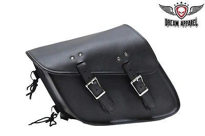 MOTORCYCLE PLAIN SWING ARM SOLO SADDLEBAG WITH TWO STRAPS 13 4 10 GREAT PRICE