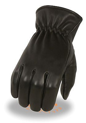 MEN'S DEERSKIN THERMAL LINED GLOVES REAL LEATHER W/CINCH WRIST BLK VERY SOFT