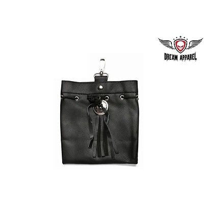 MOTORCYLE WOMEN'S GENUINE LEATHER BIKER BELT LOOP PURSE WITH LACE NEW