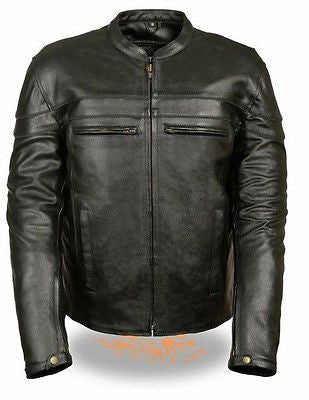 MEN'S MOTORCYCLE SCOOTER JACKET WITH THINSULATE LINING