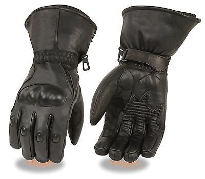 MEN'S BUTTER SOFT LONG GUANTLET W/GEL PALM & HARD KNUCKLE PROTECTION WATERPROOF