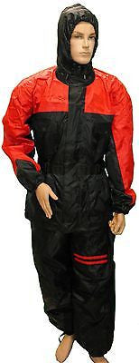 MOTORCYCLE MOTORBIKE RAIN GEAR UNISEX RAIN SUIT WATERPROOF LIGHTWEIGHT RED