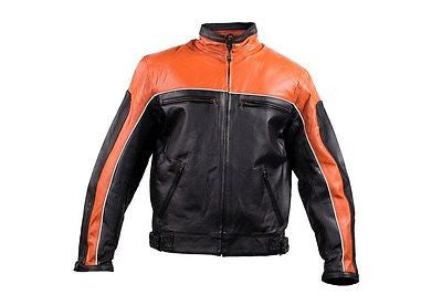 MEN'S MOTORCYCLE SCOOTER ORANGE JACKET W/ZIPOUT LINER INSIDE GREAT PRICE