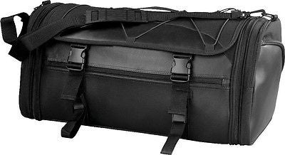 MOTORCYCLE LARGE NYLON RACK SISSY T BAR BAG TRAVEL PLAIN LUGGAGE NEW BLACK
