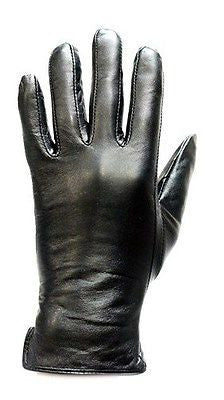 LADIES BLK FULL FINGER LINED GLOVES VERY WARM AND SOFT LEATHER GREAT PRICE
