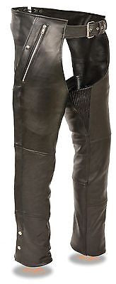 MOTORYCLE MENS RIDERS PANT BLK FOUR POCKET THERMAL LINED CHAP WITH MESH LINER