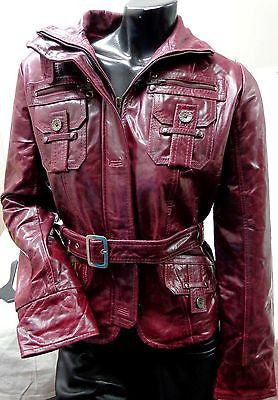 WOMEN'S LEATHER MILITARY STYLE GENUINE BUFFALO LEATHER JACKET GREAT PRICE