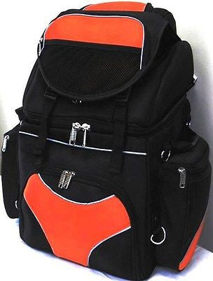 MOTORCYCLE LARGE ORANGE SISSY TRAVEL BAR BAG NYLON BACK PACK TRAVEL LUGGAGE NEW