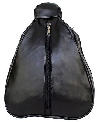 MOTORCYLE WOMEN'S GENUINE BLK LEATHER BACK PACK WITH CENTER ZIPPER NEW