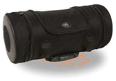 MOTORCYCLE LARGE TRIPLE ZIPPER POCKETED ROLL TRAVEL BAG PLAIN LUGGAGE NEW