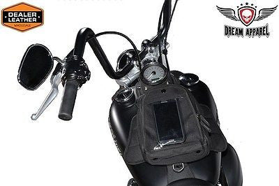 MOTORCYCLE MGANETIC TANK BAG W/CLEAR WINDOW FOR GPS WITH RAIN COVER INCLUDED