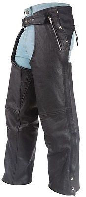 Men's motorcycle Four pocket with Removable liner Leather chap