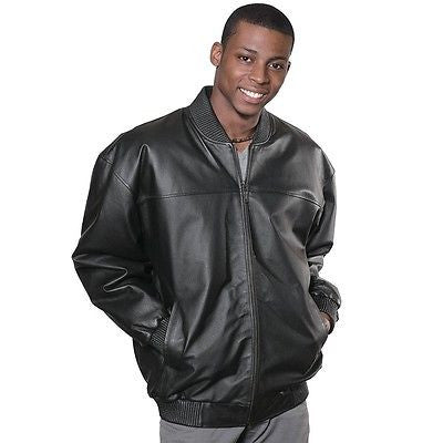 MEN'S BASEBALL LEATHER JACKET WITH FUR ZIPOUT LINNING INSIDE NAPPA LEATHER