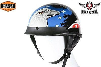 MOTORCYCLE BRAND NEW DOT APPROVED HALF HELMET WITH EAGLE GRPHIC NEW