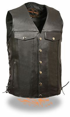 MEN'S MOTORCYCLE CHEST POCKET WITH SIDE LACES & TWO GUN POCKETS INSIDE