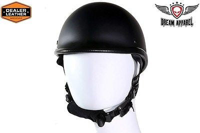 MOTORCYCLE FLAT BLK SMOKEY HAWK NOVELTY HELMET W/CHIN STRAP FREE SHIPPING