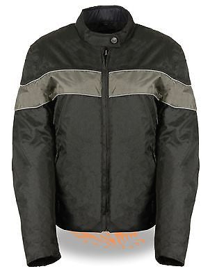 LADIES GREY LIGHTWEIGHT TEXTILE W/REFLECTIVE PIPING JACKET ZIPOUTLINER BLK/GREY