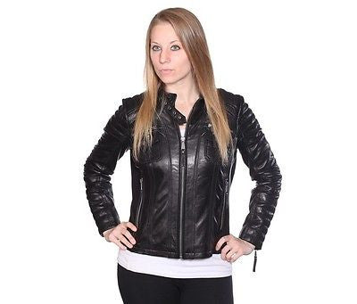 WOMEN'S RACER SHORT W/FOUR EXTERIOR POCKETS SEXY LOOK VERY SOFT LEATHER