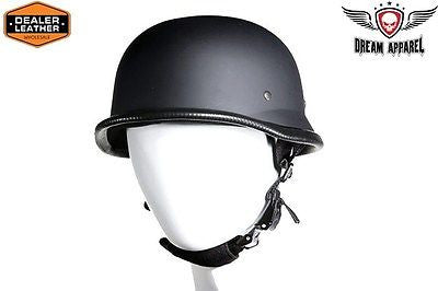 Motorcycle Men's Novelty German Flat Blk Helmet