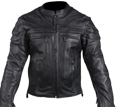 MEN'S MOTORCYCLE SCOOTER JACKET WITH WITH 2 GUN POCKETS & VENT