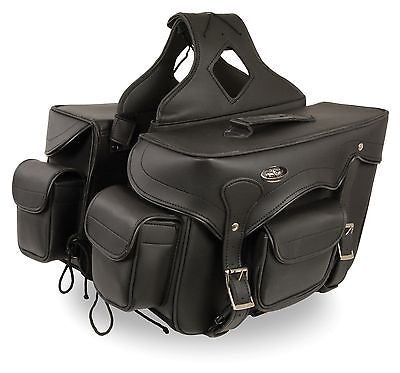 MOTORCYCLE 2PC WATERPROOF MEDIUM PVCTHROWOVER SADDLEBAG W/FRONT BONUS POCKET