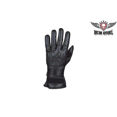MOTORCYCLE GUANTLET RIDING INSULATED GLOVES W/ PADDED KNUCKLES FULL FINGER WARM