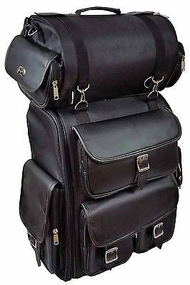 MOTORCYCLE SISSY TRAVEL BAR BAGS PLAIN BAG BACK PACK TRAVEL LUGGAGE ALL NEW