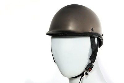 MOTORCYCLE SHINY BLACK CHROME JOCKEY HAWK NOVELTY HELMET GREAT PRICE