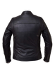 Men's Motorcycle riding Blk Scoter Vented leather jacket with 2 Gun pockets inside