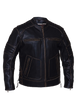 Men's Motorcycle Vintage Rub off Brn Scoter Leather jacket with Side laces & Kidney padding back