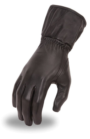 Motorcycle Women's Long Guantlet Lined leather gloves buttersoft