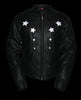 Women's Biker front back Reflective star leather jacket thick leather