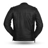 Men's Premium Ultra Naked Cow Hide Raider Leather Jacket with 2 FRONT pistol pete pockets