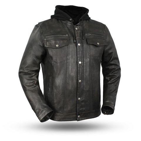Mens Motorcycle Scoter Sand cream Warrior vented leather jacket with intricate detailing