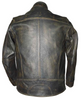 Men's Motorcycle Scotter distressed brown leather jacket soft leather