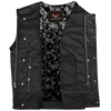 Mens Motorcycle Paisley Liner Collarless premium leather Son of anarcy Exterior Gunpocket Vest