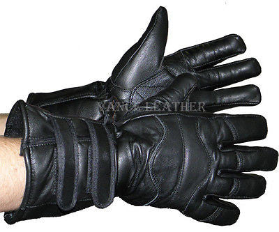 MOTORCYCLE BIKE RIDING INSULATED GAUNTLET GLOVES W/TWO STRAPS UNISEX BUTTERSOFT