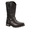 Men's Motorcycle Waterproof J Toe Harness Cowboy Leather boot