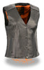 WOMEN'S SNAP VEST WITH PHOENIX STUDDING EMBROIDERY BACK WITH 2 GUN POCKETS