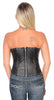 WOMENS BLK SEXY BUSTIER CORSET LINGERINE WITH STUDS & BACK ZIPPER
