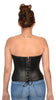 WOMENS BLK SEXY BUSTIER FITTED CORSET WITH BACK LACING