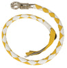 "Motorcycle biker riding 39"" White/yellow old school get back leather whip"